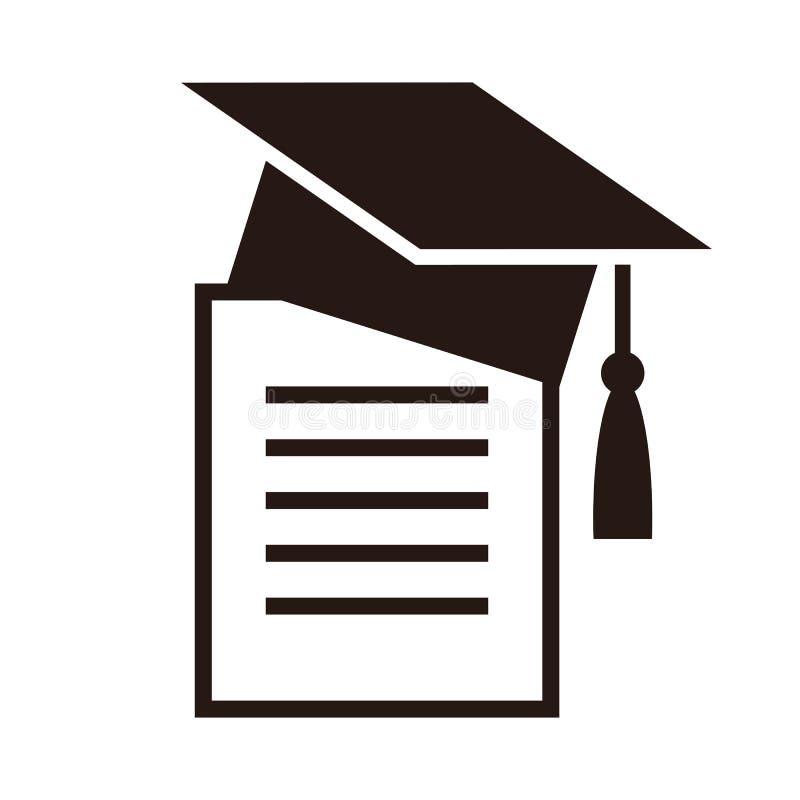 Graduation Cap And Diplom Education Symbol Stock Vector
