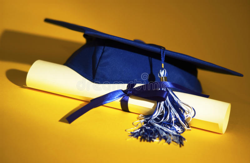 Download Graduation cap and diploma stock image. Image of degree - 17914803