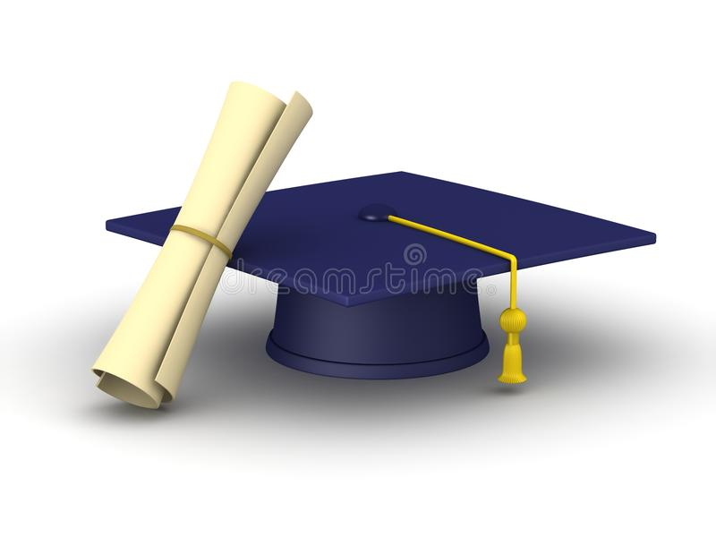 download graduation cap and diploma stock illustration image of school 34016046