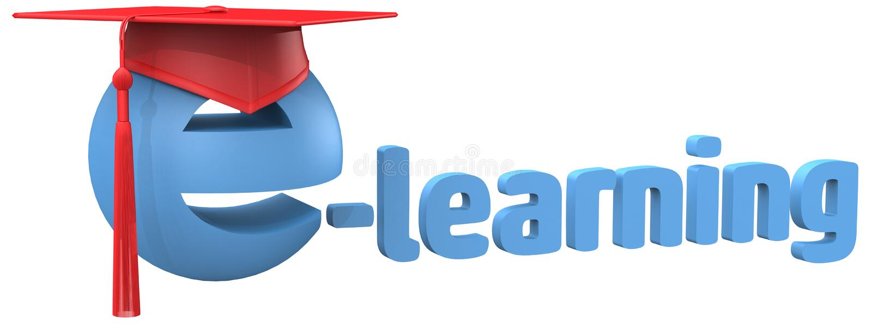 Download E Learning Education School Grad Cap Word Stock Illustration - Illustration: 30005707