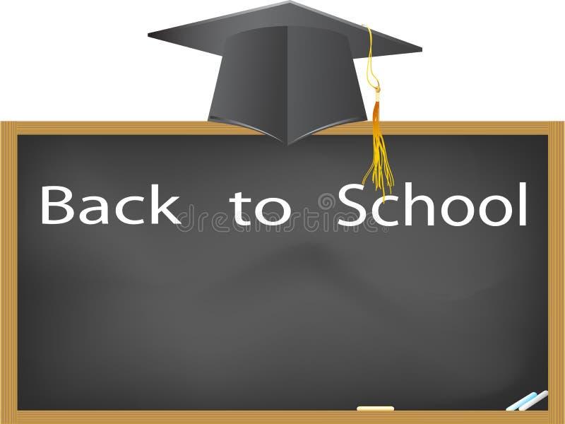 Download Graduation Cap Hanging Above The Blackboard Stock Vector - Illustration: 22272585