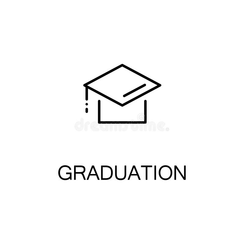 Graduation cap icon stock illustration