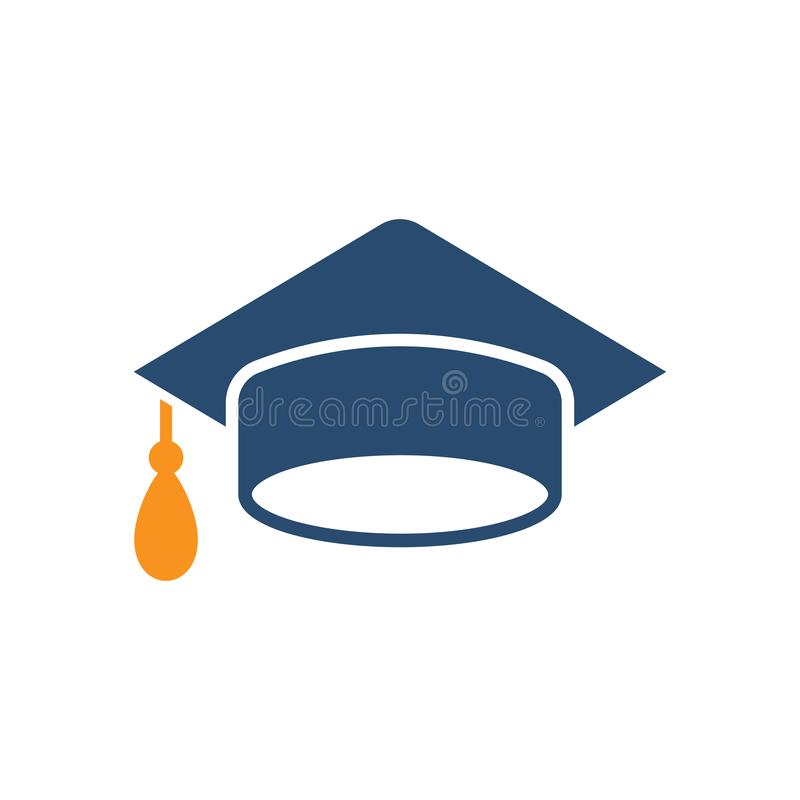 Graduation cap icon in flat style. Education hat vector illustration on white isolated background. University bachelor business. Concept vector illustration