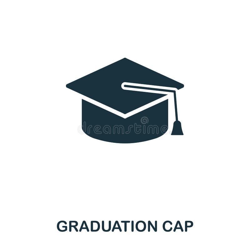Graduation Cap icon. Line style icon design. UI. Illustration of graduation cap icon. Pictogram isolated on white. Ready royalty free illustration
