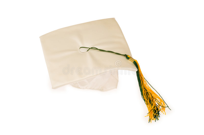 Download Graduation cap isolated stock image. Image of certificate - 7905305