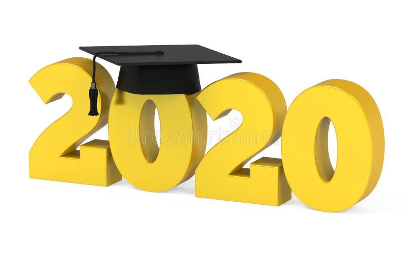 Graduation Background 2020.2020 Graduation Cap Isolated Stock Illustration