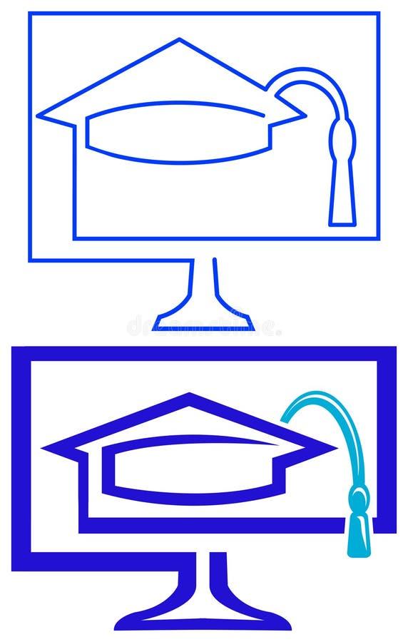 Download Graduation cap logo stock vector. Illustration of monitor - 22541208