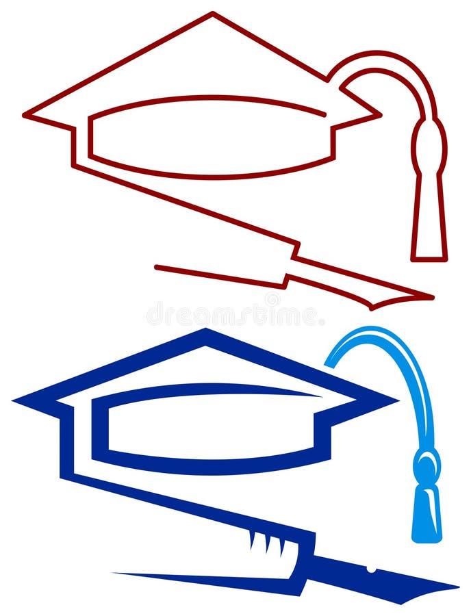 Graduation Cap And Pen Stock Photos