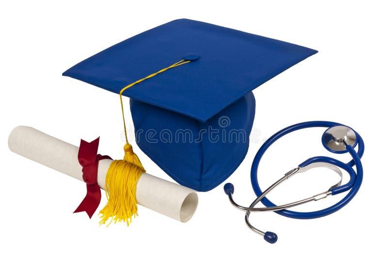 Blue Graduation Cap Stock Photography