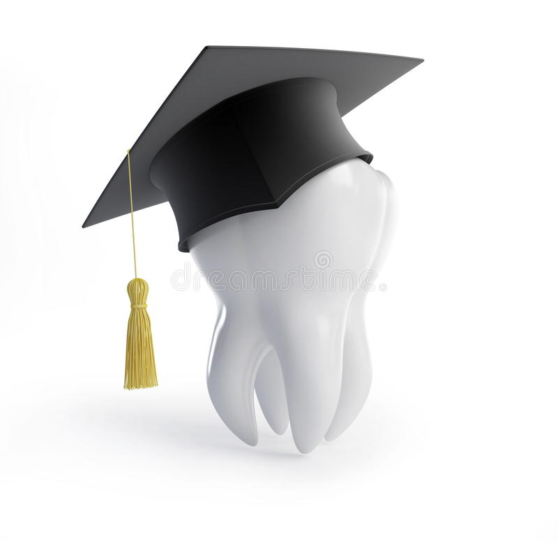 Graduation cap tooth