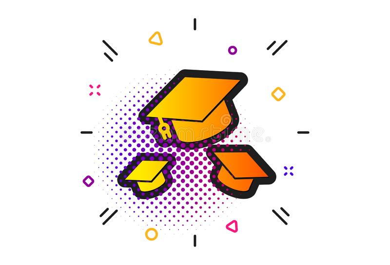 Graduation caps icon. Education sign. Vector vector illustration