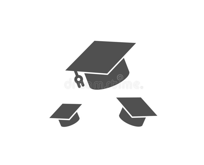Graduation caps icon. Education sign. Vector stock illustration
