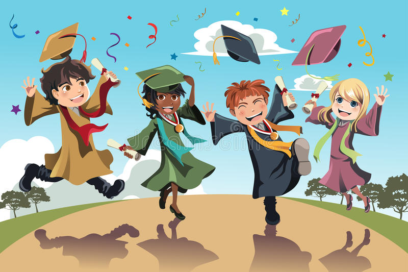 Graduation celebration royalty free illustration