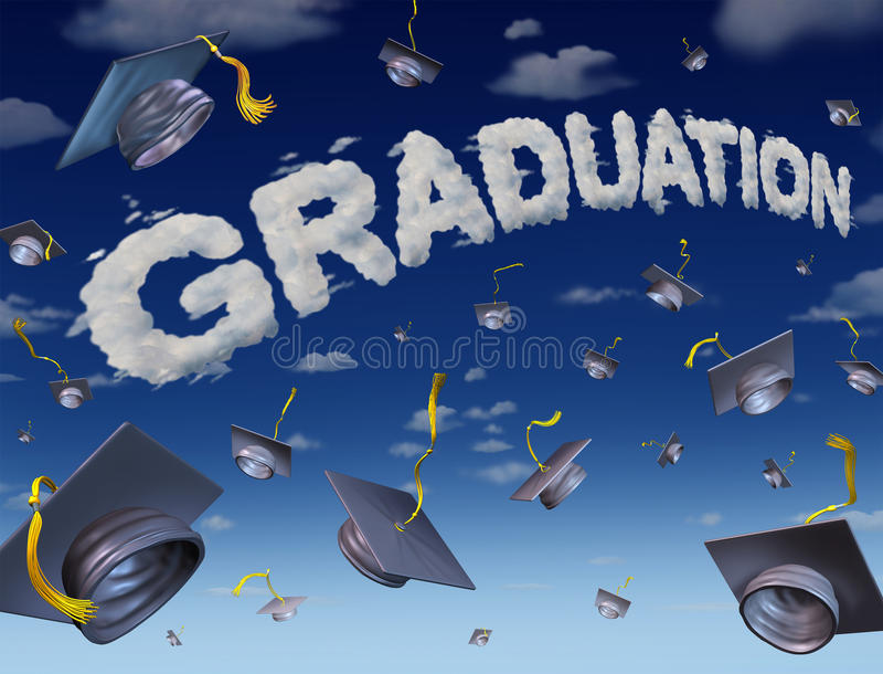 graduation celebration stock illustration image 40802264. Black Bedroom Furniture Sets. Home Design Ideas
