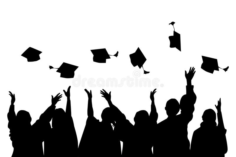 GRADUATION CELEBRATION PARTY stock illustration