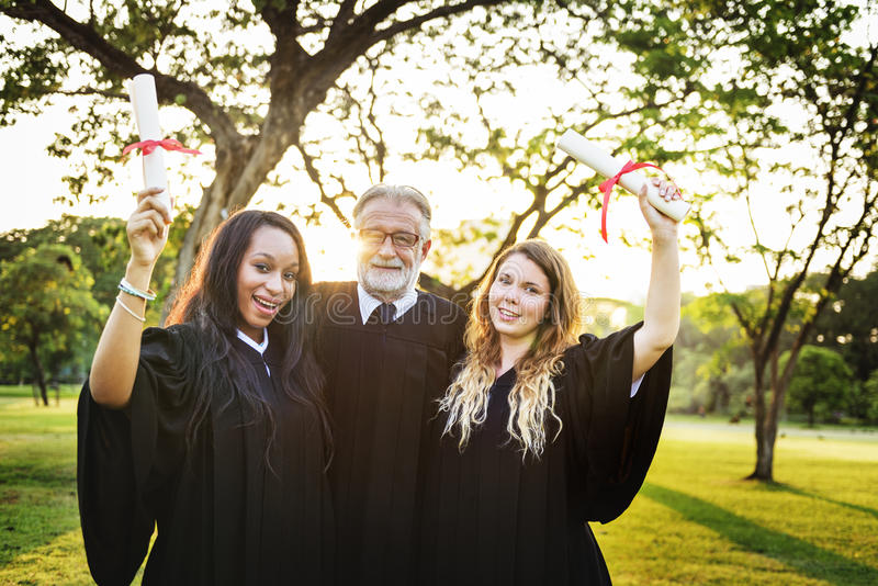 Graduation Celebration Success Certificate College Concept royalty free stock photo