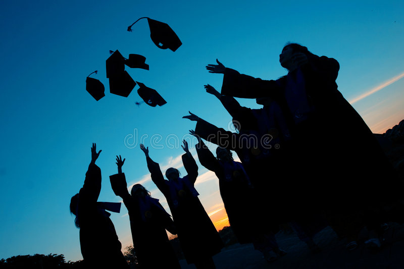 Download Graduation day stock photo. Image of cheery, teens, overjoyed - 5016866