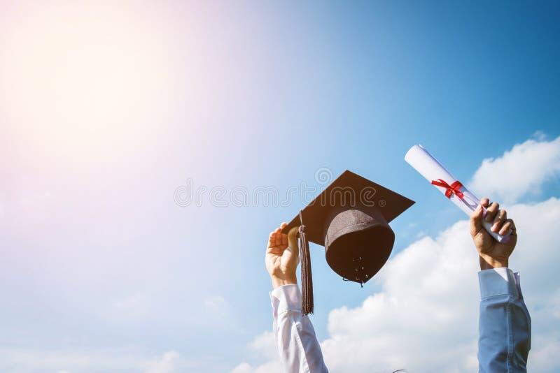 Graduation day, Images of graduates are celebrating graduation p royalty free stock images