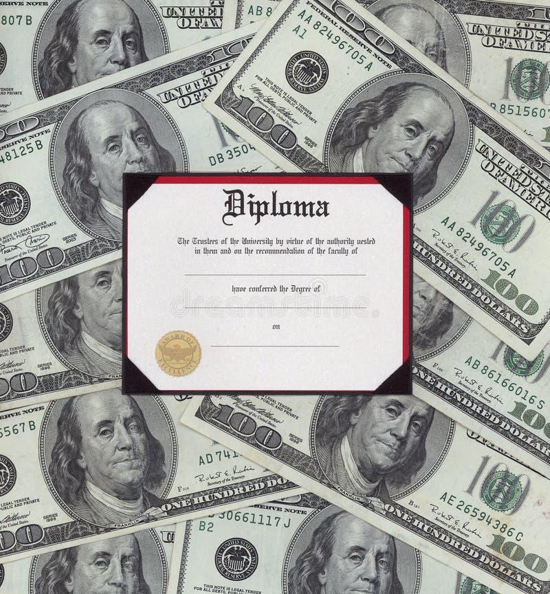 Graduation diploma royalty free stock image