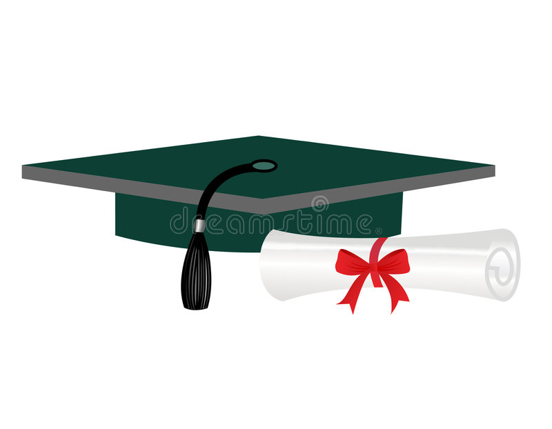 Download Graduation diploma and cap stock illustration. Image of board - 8435577
