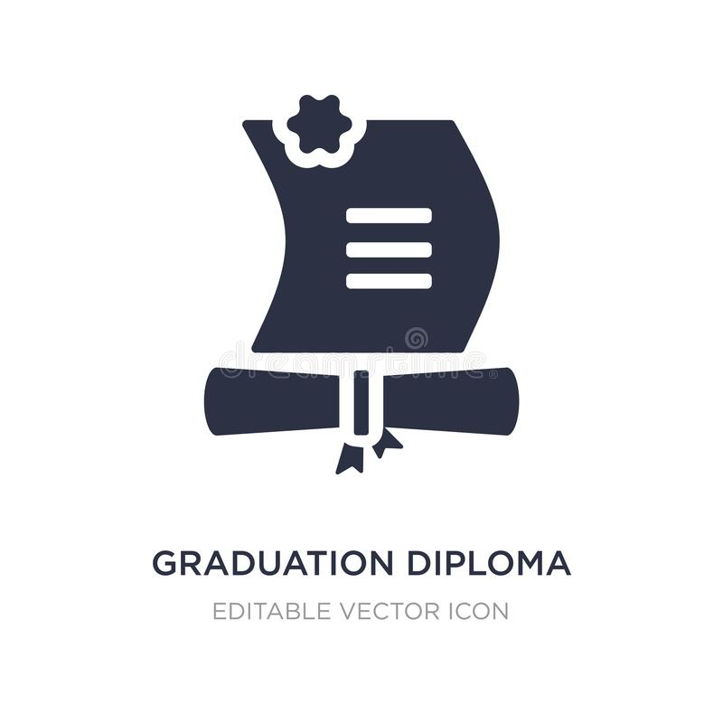 graduation diploma icon on white background. Simple element illustration from Education concept vector illustration