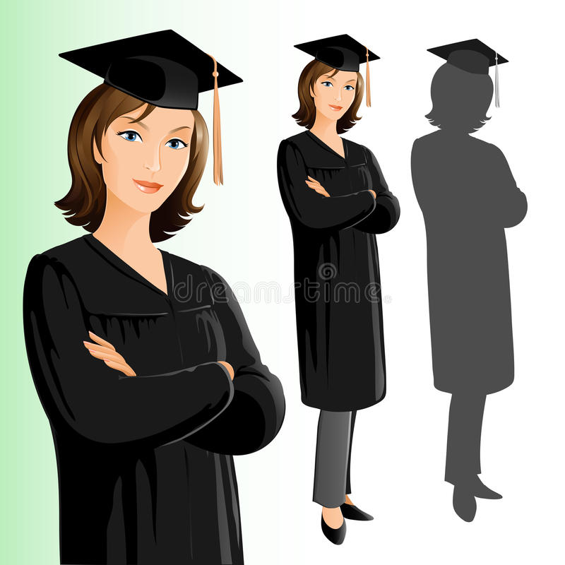 Graduation (femme) illustration de vecteur