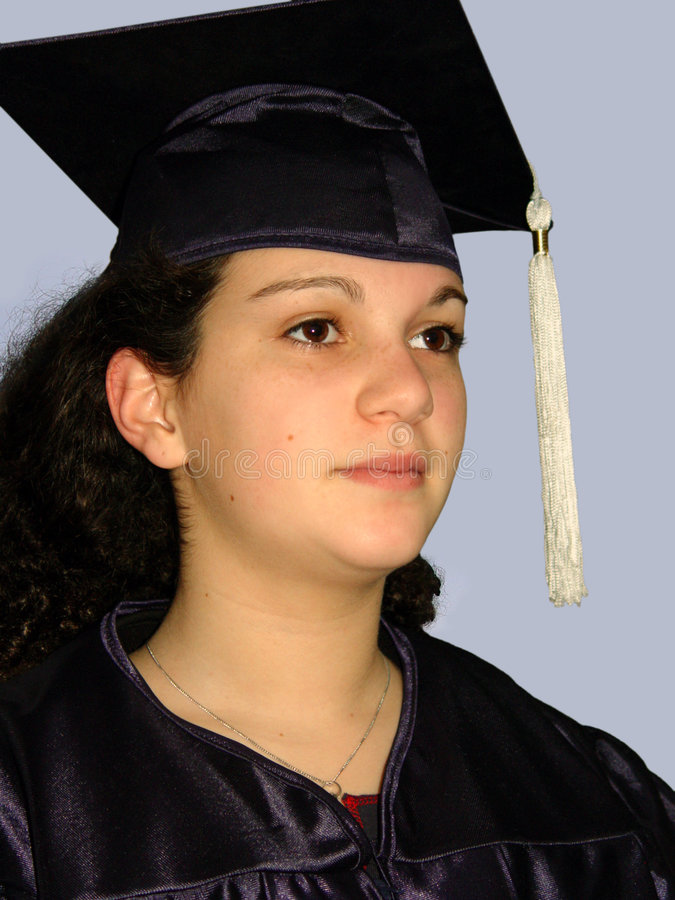 Graduation girl stock images