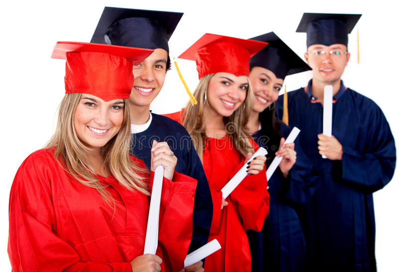 Download Graduation group stock photo. Image of mortarboard, pretty - 11748510