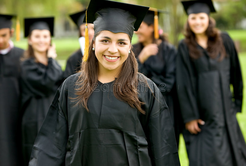 Download Graduation group stock image. Image of female, adult, cute - 7085415