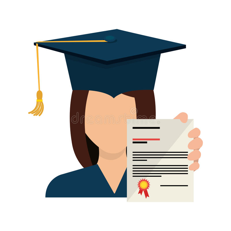 Graduation hat element icon. Illustration design vector illustration
