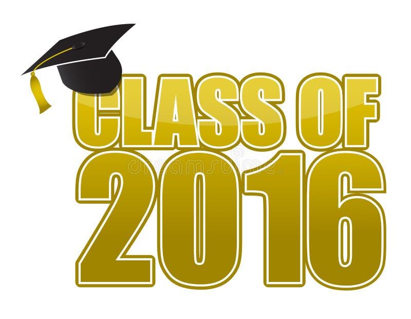 Graduation 2016 vector illustration