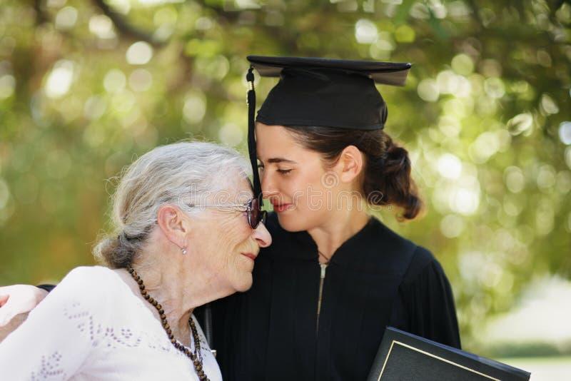 Graduation heureuse image libre de droits