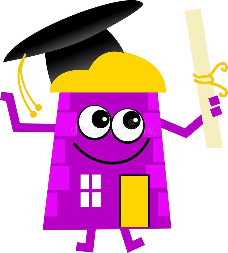 Graduation house vector illustration