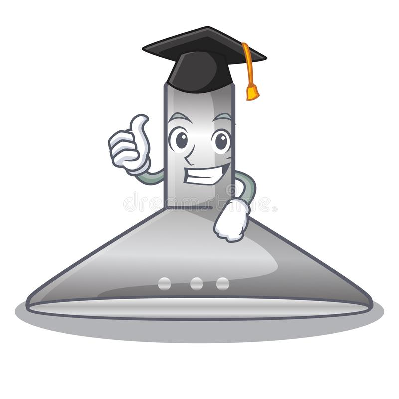 Graduation kichen hood in the mascot shape. Vector illustration royalty free illustration