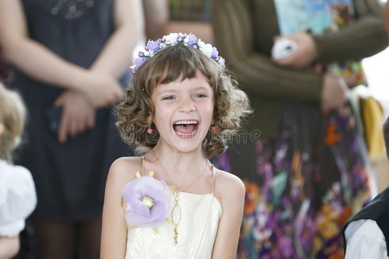 Graduation in kindergarten royalty free stock image