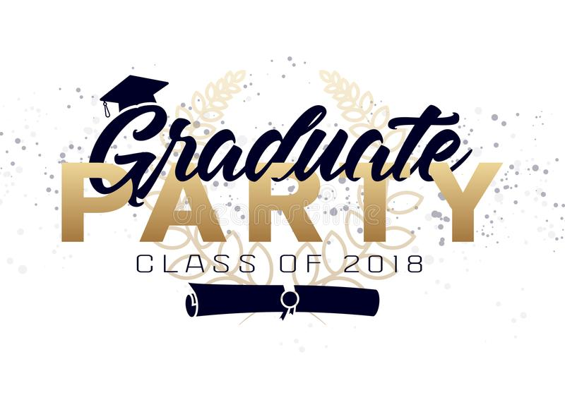Graduation label. royalty free illustration