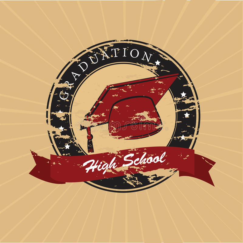 Graduation label vector illustration