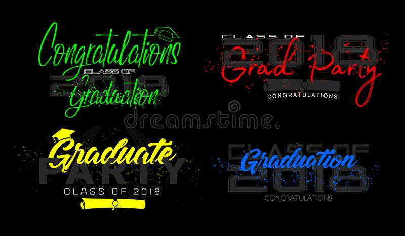 Graduation label. Vector. Set vector illustration
