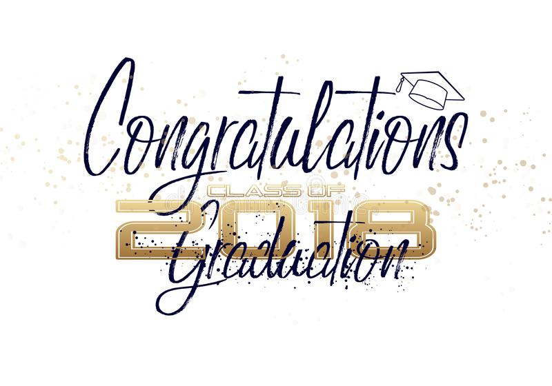 Graduation label. vector illustration