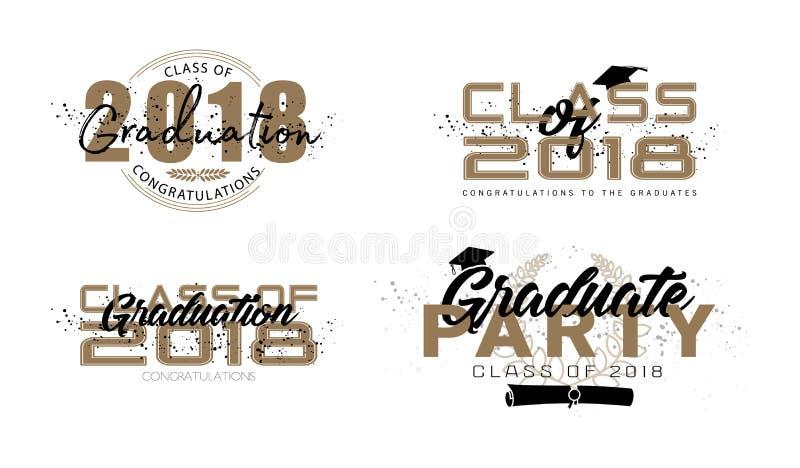 Graduation label. vector illustration
