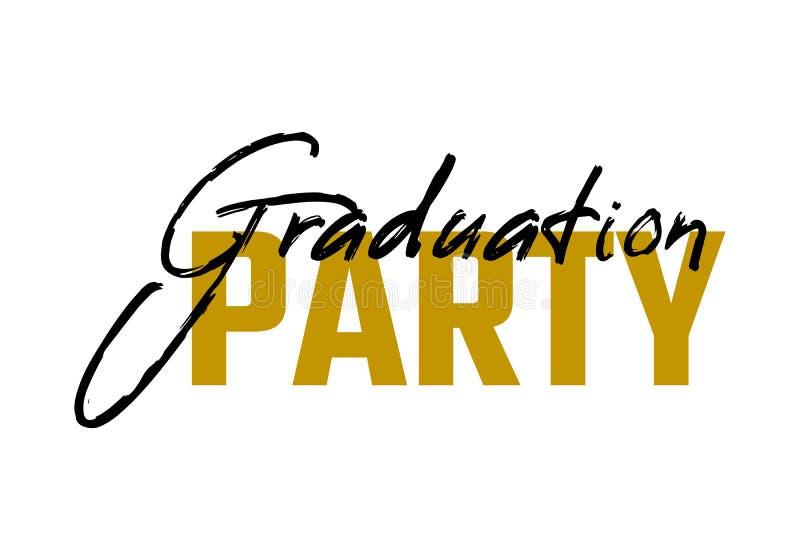 Graduation label. Vector text for graduation design, congratulation event, party, high school or college graduate. Graduation label. Lettering Class of 2019 for stock illustration