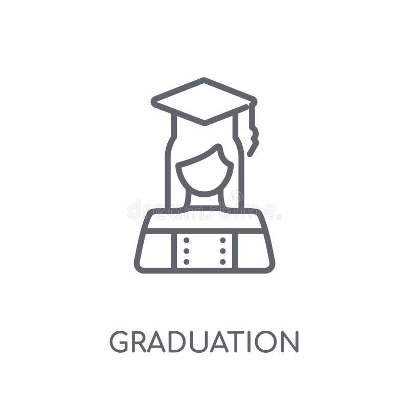 Graduation linear icon. Modern outline Graduation logo concept o vector illustration