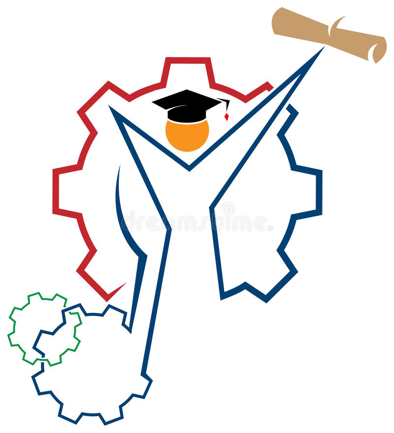 Graduation logo stock illustration