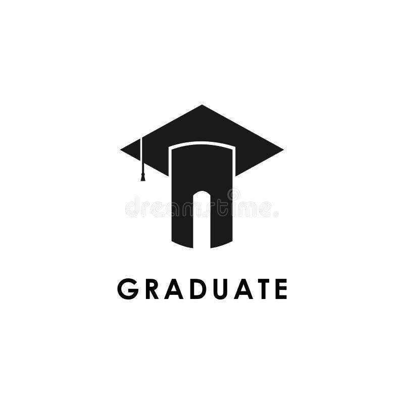 Graduation logo template design vector illustration icon. Graduation logo template design vector illustration, academy, cap, class, coaching, college, education royalty free illustration