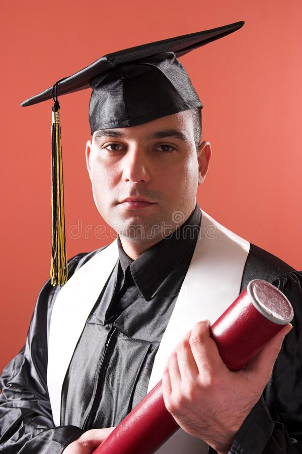 Graduation a man stock photography