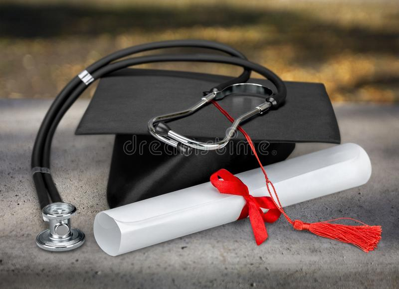 Graduation medical concept royalty free stock photography