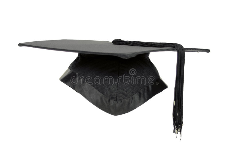 Graduation mortar isolated. stock photography