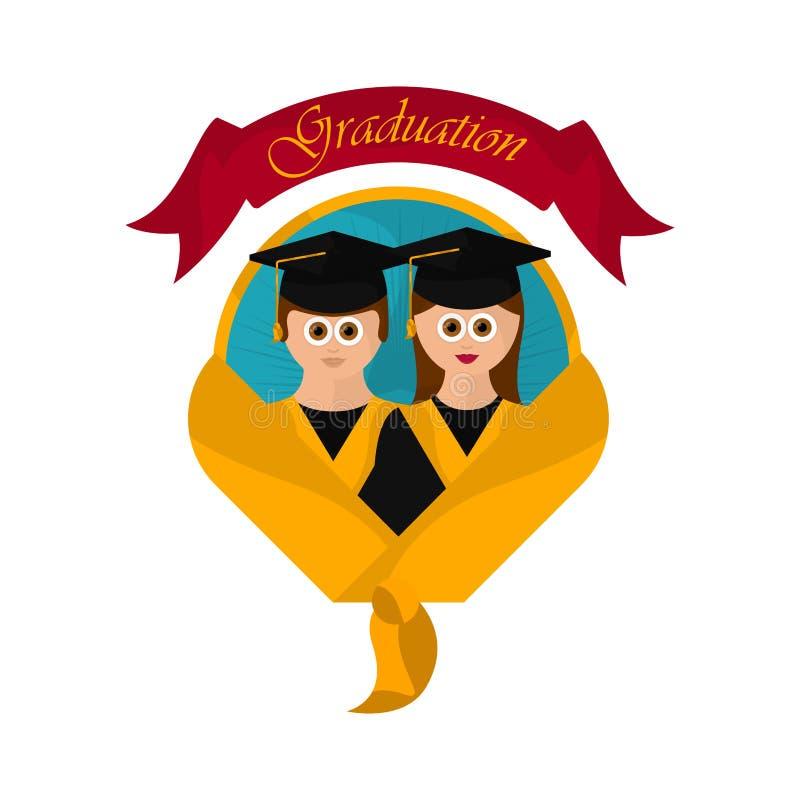 Graduation objects illustration stock illustration
