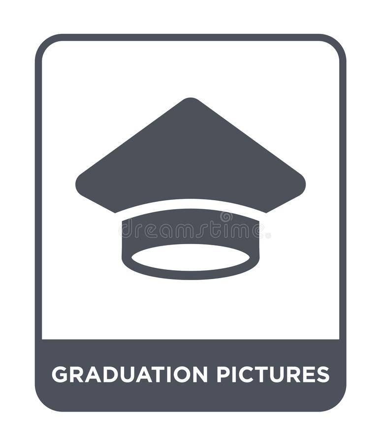 graduation pictures icon in trendy design style. graduation pictures icon isolated on white background. graduation pictures vector vector illustration