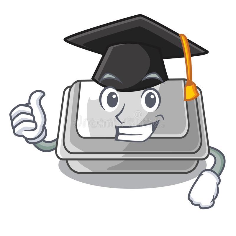 Graduation plastic box in the mascot shape. Vector illustration vector illustration